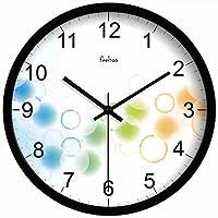 10 pollici / 12 pollici / 14 pollici di Creative Labs Creative Living Room Mute Orologio da parete europee Simple Clock Wall Art ( colore : Black Border , dimensioni : 12 pollici )