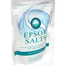 Elysium SPA Epsom SALES DE BAÑO NATURAL Sulfato De Magnesio CRISTALES - EUCALIPTO