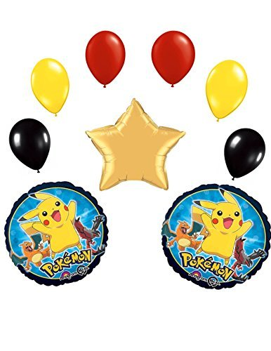 Pokemon Deluxe 9 Pcs. Star Balloon Bouquet by Spursgrl