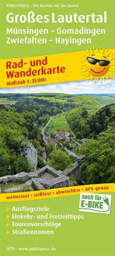 Großes Lautertal, Münsingen - Gomadingen - Zwiefalten - Hayingen: Rad- und Wanderkarte mit Ausflugszielen, Einkehr- & Freizeittipps, wetterfest, ... 1:35000 (Rad- und Wanderkarte / RuWK)
