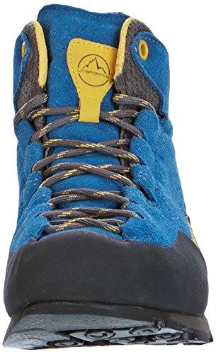 La Sportiva Boulder X Mid GTX - Chaussures - gris/bleu 2017 blau / gelb (956)