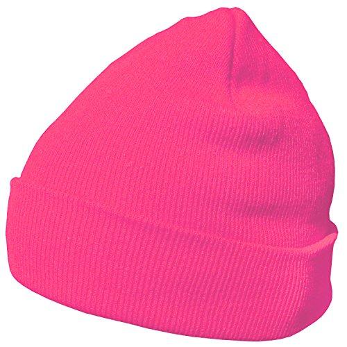 DonDon Berretto invernale morbido e caldo dal design moderno rosa neon I