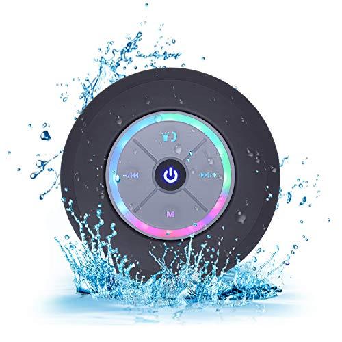 Elitehood Altoparlante Bluetooth per Doccia Impermeabile Cassa Bluetooth 4.0 Portatili Wireless Mini con Radio FM Vivavoce Microfono Integrato per Doccia,ato Piscina, Barca,Casa,Esterno (Nero)