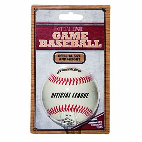 Franklin Sports Official League Leather Game Baseball