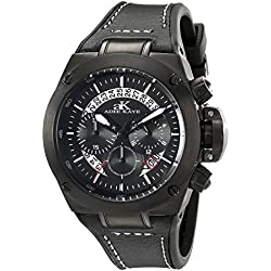 Adee Kaye Herren ak6368-gbk Phantom Analog Display Japanisches Quartz Black Watch