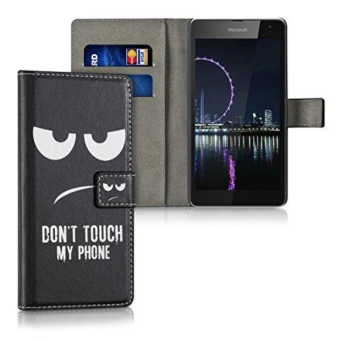 kwmobile Microsoft Lumia 535 Hülle - Kunstleder Wallet Case für Microsoft Lumia 535 mit Kartenfächern und Stand