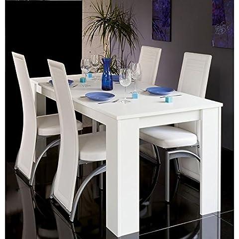 Table à manger extensible console Cityline 120-160-200 cm blanc