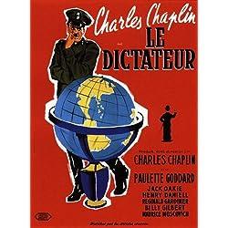 Póster de película El gran dictador de Charlie Chaplin (68 x 98 cm, en francés)