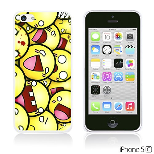 OBiDi - Funny Pattern Hardback Case / Housse pour Apple iPhone 5C - A TO Z Funny Smily Faces