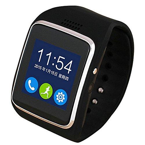Galleria fotografica Lemumu Il nuovo WeChat QQ Touch Screen Mobile Phone Card fotocamera per Android Bluetooth universale Smart Watch,Nero