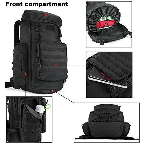 Imagen de dccn táctico  70l  85l molle backpack militar  con cubierta de la lluvia para deporte al aire libre trekking camping senderismo alternativa