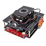 SunFounder Raspberry Pi Smart Robot Car Kit Speech Interface Visual Programming Language Line Following Ultrasonic Sensor Module Electronic Toy Pi is not included