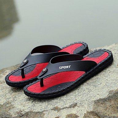 Slippers & amp da uomo;Pelle leggera estiva Soles microfibra all'aperto Sandali con tacco piatto sandali US8.5-9 / EU41 / UK7.5-8 / CN42