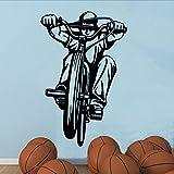 Xzfddn Fahrrad Heißer Verkauf Schlafzimmer Wandaufkleber Fahrrad Reiter Art Home Bmx Kreativ
