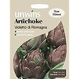 Unwins Pictorial paquete–Alcachofa Violetto di Romaña–25semillas