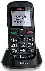 Téléphone Mobile d'Urgence TTfone Jupiter 2 Grosses Touches Facile Senior Débloqué et Dock Chargeur