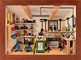 3D Holzbild Elektrowerkstatt, lasiert - Geschenk für Elektriker, Elektroniker und Elektroinstallateure
