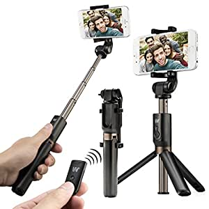 bluetooth selfie stick tripod portable extendable wireless remote control and tripod stand. Black Bedroom Furniture Sets. Home Design Ideas
