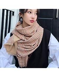 IBUP Écharpe Jacquard Japonais et Corée du Sud Foulard Jacquard Femme  Automne et Hiver Imitation Cachemire 7c1cbe59da2