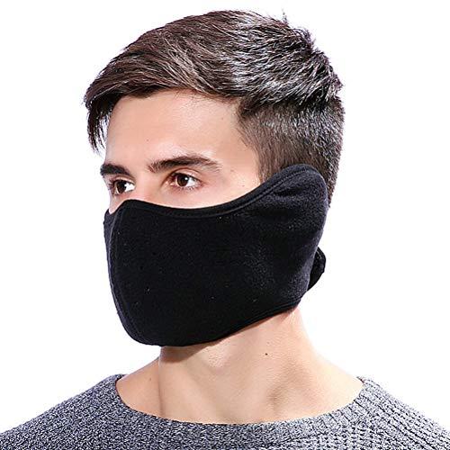 VOSAREA Gesichtsmaske Motorrad Fahrrad Ski Mundschutz Maske Half Face Maske Gesichtswärmer