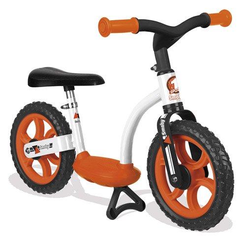 Smoby Toys - 770103 - Draisienne Confort Enfant avec Roues Silencieuses, Siège Réglable, Béquille Intégrée, Orange