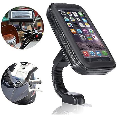 Impermeable Funda soporte, Ubegood motocicleta bolso impermeable táctil titular del teléfono/ Motorcycle Phone
