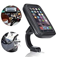 Waterproof motocycle holder, Ubegood Universal Motorcycle Phone Holder Bag/ Cellphone Mount Stand Case (5.5 inch)