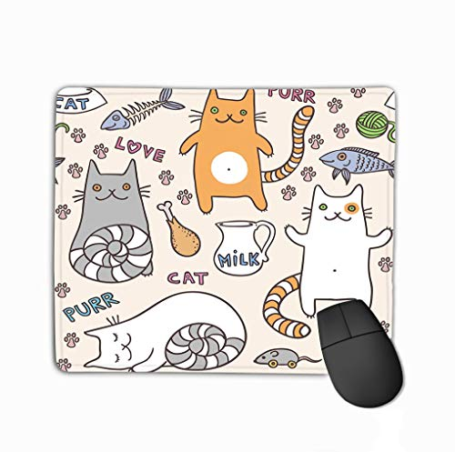 Gaming Mouse Pad Oblong Shaped Mouse Mat 11.81 X 9.84