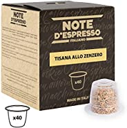 Note d'Espresso Ginger Infusion Capsules exclusively Nespresso* Compatible 2g x 40 Capsules