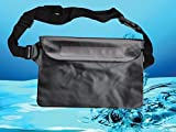 Safeseed Waterproof Pouch with Waist Strap for Outdoor Sports (Black)