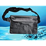 Safeseed Waterproof Pouch with Waist Strap for Outdoor Sports-Black