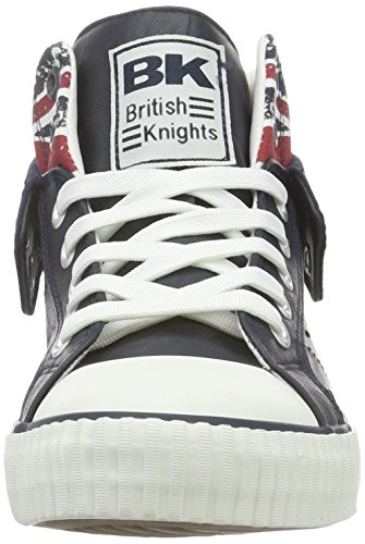 British Knights Roco, Baskets Basses Homme Bleu - Blau (Navy/Union Jack 04)