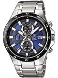 Casio Herren-Armbanduhr XL Edifice Analog Quarz Edelstahl EFR-519D-2AVEF
