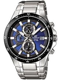 Casio EFR-519D-2AVEF - Reloj analógico de cuarzo para hombre con correa de acero inoxidable, color plateado