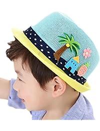 LAAT Chapeau de Soleil Plage Anti-UV Solaire d'été Chapeau de Paille pour Fille Garçon Enfant Bébé Protection Soleil Voyage Plage