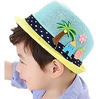 Monbedos Lovely Unisex Niños Sombrero de Sol Playa Bebé Sombrero de Sol  para al Aire Libre b12bae0a2d0