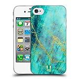 Head Case Designs Wasserfarbe Marmor Glitzer Druecke Soft Gel Hülle für iPhone 4 / iPhone 4S