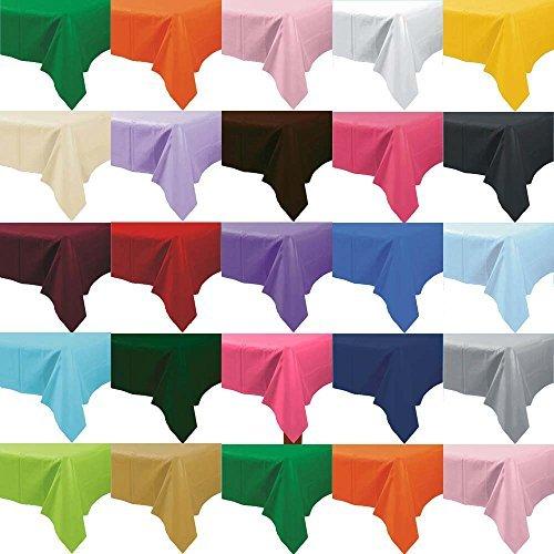 Party-tableware-Mantel-de-plstico-desechable-varios-colores