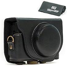 "MegaGear ""Ever Ready"" Protectora Negro caja de la cámara del cuero, bolso para Sony Cyber‑shot DSC‑RX100 V, DSC-RX100M II, DSC-RX100 III, DSC-RX100 IV"