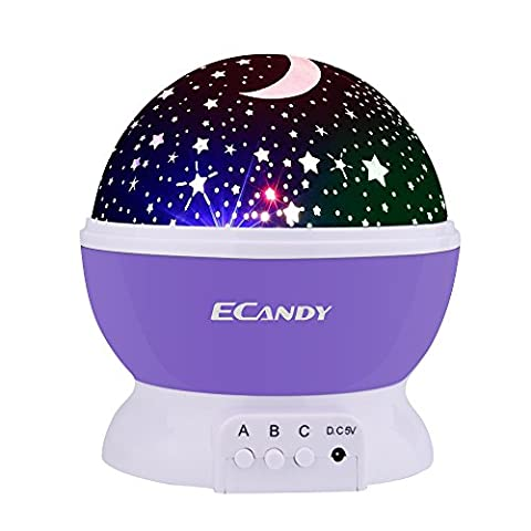 Ecandy 360 Degree Rotating 3 Mode Projector Light Romantic Cosmos