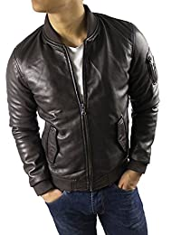 Suchergebnis auf Amazon.de für  Lederjacke Herren Braun  Bekleidung f6e1708269