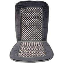 Carpoint 0323219 - Funda de bolas de madera para asiento, color gris y negro