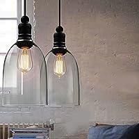 hahaemall interni vintage lampada a sospensione Mini Pendant Light Big Bell paralume in vetro (lampadine non