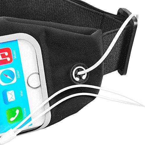 Sac banane Sac Banane pour Smartphone Sac Ceinture Sport Waist Bag Street Case Jogging de téléphone portable nauc noir