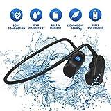 KIZOKU Cuffie a conduzione ossea impermeabile Lettore mp3 impermeabile IPX8 nuoto impermeabile, impermeabile 8 GB per cuffia da nuoto, auricolare sportivo