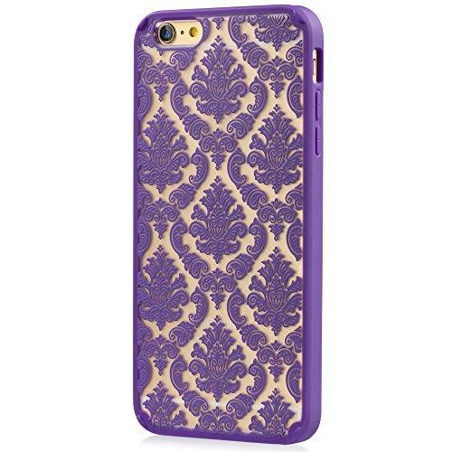 "Vena Apple iPhone 6 Plus [TACT Armor][CornerGuard | Absorption des chocs] hybride Slim Protective Cover Case pour iPhone 6 Plus (5.5 "") - DAMASK [Teal] Violet"