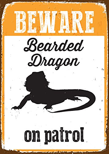 magnet-stahl-beware-bearded-dragon-on-patrol-blechschild