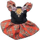 vêtement pour chien, Plaid princesse robe de mariée Tutu Puppy Cat Vêtements Shirt Jupe