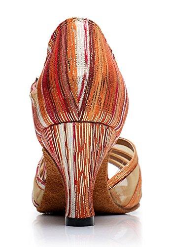 TDA , Peep-Toe femme 6cm Heel Orange