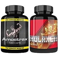 Preisvergleich für Holaxen und Amostrax By VargPower | Testosteron Testo Booster Extreme | Muskelaufbau Paket | 240 Kapseln | Für...